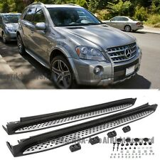 For 06-11 W164 ML-Class OE Factory Style Running Boards Mercedes Benz Aluminum