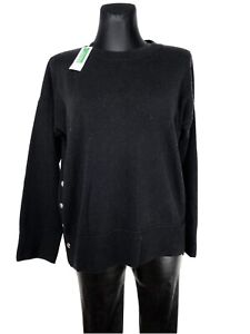 united colours of benetton Black Wool Knit Oversized Jumper Size M New