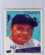 BABE RUTH, Goudey Big League Chewing Gum Card #144, New York Yankees - REPRINT