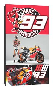 Marc Marquez 93 canvas wall art Wood Framed Ready to Hang XXL