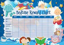 A5 Print - Children's Bedtime Reward Chart includes Smiley Face Stickers (Kids)