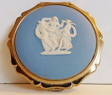 Stratton Powder Compact Queen Convertible Blue Jasper Three Graces Roundel 1960