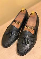 Moreschi Peccary Tassel Loafer 8.5 Black Men's Shoes