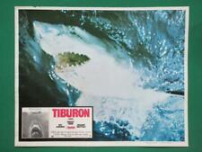 JAWS STEVEN SPIELBERG SHARK ATTACK TIBURON ORIGINAL SPANISH MEXICAN LOBBY CARD 3