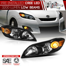 "[Built-In LED Low Beam] ""FACTORY STYLE"" Black Headlights 2009-2014 Toyota Matrix"
