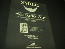 Graeme Edge of the Moody Blues says Smile 1974 Promo Poster Ad mint condition