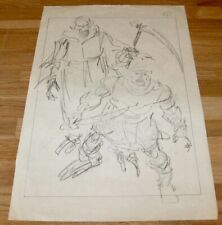 MASTERS OF THE UNIVERSE (1987) SCARCE ORIG. PRODUCTION DRAWING + COA!