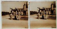 Castello Di Chenonceau Stereo Amateur Targa Di Vetro Pos. 1934 Vintage