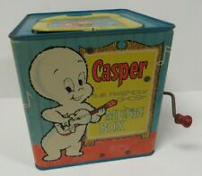 Vintage 1950's Casper The Friendly Ghost Jack in the Box Music Musical Toy Tin