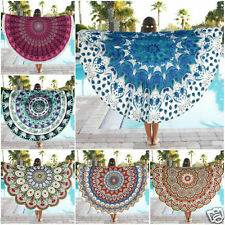 Round Hippie Tapestry Beach Pool Home Shower Towel Blanket Table Cloth Yoga Mat