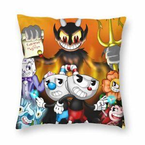 Game Cuphead Plush Throw Pillow Case Bed Sofa Cute Cartoon Cushion Cover Decor