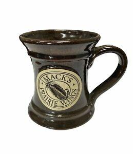 Mack's Prairie Wings Coffee Mug- Duck Hunting Brown RARE Stoneware Coffee Cup