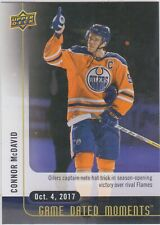 17/18 UD...CONNOR McDAVID...GAME DATED MOMENTS....CARD # 1....OILERS