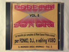 CD Effetti sonori Vol. 8 - Il mondo degli animali vol. 2 RARISSIMO VERY RARE!!!