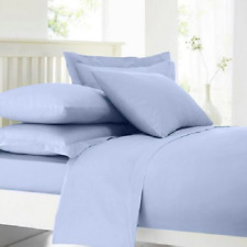 Home Collection Light Blue Cotton Rich Percale kingsize Duvet Cover