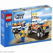 Lego 7737 4x4 de guardacostas y moto acuática