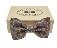 Floral Bow Tie in Blue Pink - Adult & Junior sizes available - Gift Boxed