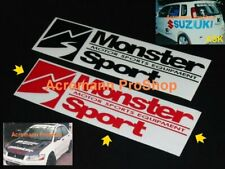 2x 8.5inch 21.6cm Monster Sport decal sticker EVO Suzuki swift Civic JWRC JDM X