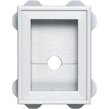 Builders Edge 130130003001 Wrap Around Utility Block 001, White