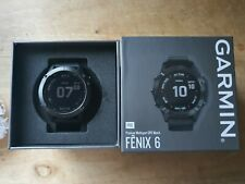 Garmin Fenix 6 Pro - Black - Black Band Excellent Condition - Boxed - Mint