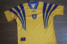Sweden Soccer Jersey Football Shirt 100% Original Size 110 1996/1997 Home