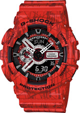 Casio G-Shock GA110SL-4A Men's Ana-Digi Red Slash Pattern Resin Band Watch