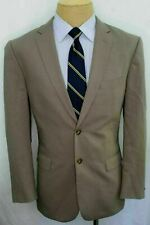 40R Jos. A. Bank Slim Fit 100% wool Tan Beige Mens Double Vent Suit MY0