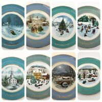 """Lot Of 8 Avon Christmas Plate Collection 1973 thru 1980 Enoch Wedgwood 9"""" Plate"""