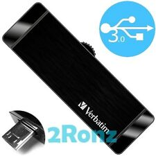 Verbatim OTG 64GB 64G USB 3.0 Flash Drive Disk Mobile Android PC Tablet Black
