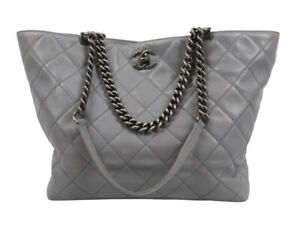 Chanel Large Tote Grey