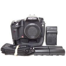 EXCELLENT Pentax K K10D 10.2MP Digital SLR Camera - Black (Body Only) + Grip