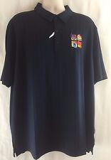 Cutter & Buck Hamden Jacquard Stripe DryTec Moisture Wicking Golf Polo Shirt 2XL