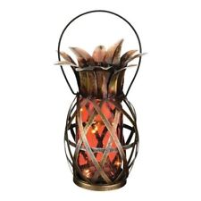 Regal Solar Pineapple Lantern - Orange