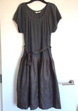 DKNY Pure grey midi dress size L, cotton and silk
