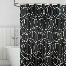 Home Geometric Shower Curtain Polyester Bathroom Waterproof Bath Curtains Hooks
