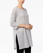 NWT Eileen Fisher Three-Quarter-Sleeve Tunic Sweater Wool Alpaca M $228