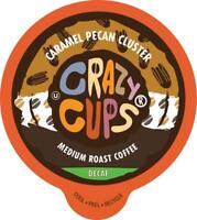 Crazy Cups Flavored Decaf Coffee, for Keurig K 2.0, Caramel Pecan Cluster, 22 Ct