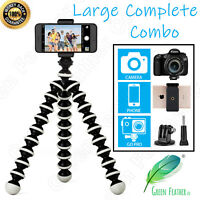LARGE Flexible Gorilla Tripod | the COMPLETE Combo | GoPro Phone Camera | iPhone