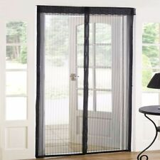 2x LARGE MOSQUITO/BUG DOOR SCREENS Mesh Insect Cover/Netting Black Fly Guard
