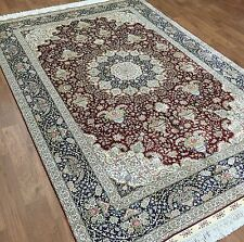 Carpet 6'X 9' Silk Traditional Tabriz Rug Handmade