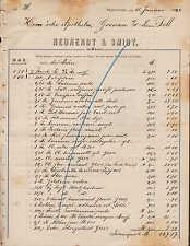 Hannover, fattura 1890, neunerdt & Smidt