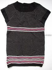Gymboree Glamour Ballerina Black Pink Dot Sweater Tunic Girls M 7-8 NEW NWT