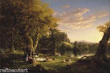 Thomas Cole The Picnic Giclee Canvas Print