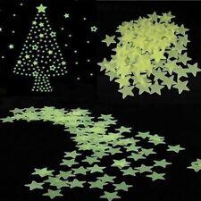 Lot 100 étoiles phosphorescente lumineuse la nuit pour chambre d'enfant déco 3D