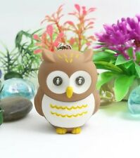 Owl Keychain Brown LED Light Up With Hooting Sound 5cm US Seller