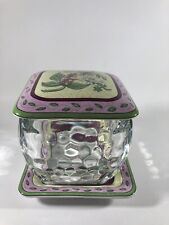 """Candle Garden Tray Holder 10/"""" Sq Plate NIB Merry Christmas PartyLite"""