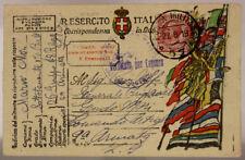 POSTA MILITARE 57 TIMBRO 26° GRUPPO BATTERIE D'ASSEDIO 27.8.1918 #XP398A