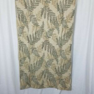 Chelsea Frank Woven Fern Leaves Print Bed Scarf Runner Protector Queen Bedding