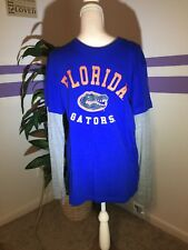 Florida Gators Long Sleeve Contrasting T Shirt Stadium Athletics Size Medium NWT
