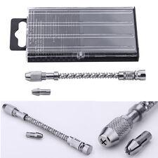 20X Mini Micro Drill HSS Bits Set Index Wire Gauge 61-80 + Swivel Head Pin Vise